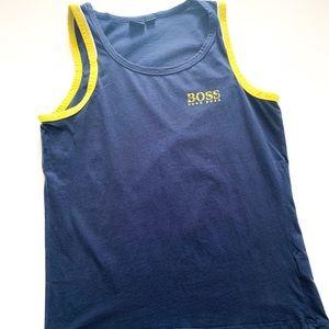 BOSS Hugo Boss Blue & Yellow Tank / Muscle Top L